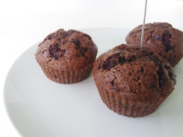 Double Chocolate Cherry Muffins (1)