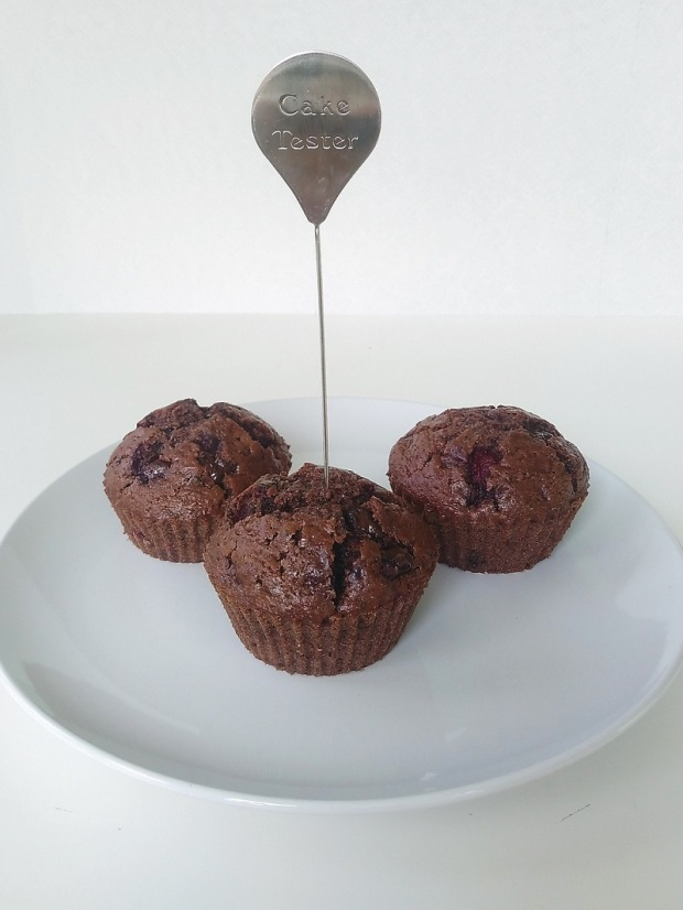 Double Chocolate Cherry Muffins (2)